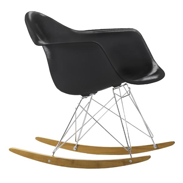 Vitra Eames RAR rocking chair, black