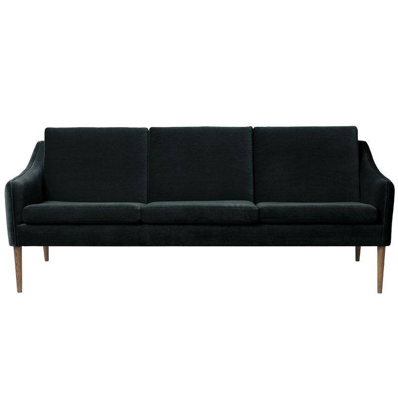 Warm Nordic Mr Olsen sohva, 3-istuttava, savustettu tammi - tumma petrooli