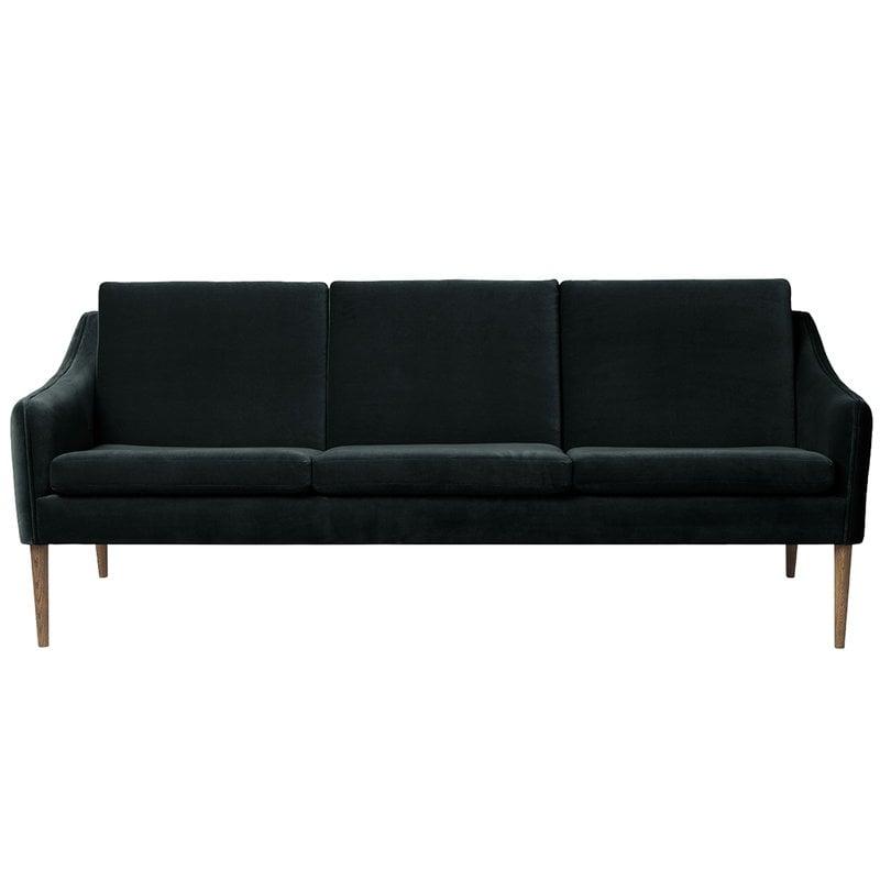 Warm Nordic Mr Olsen sofa, 3-seater, smoked oak - dark petrol