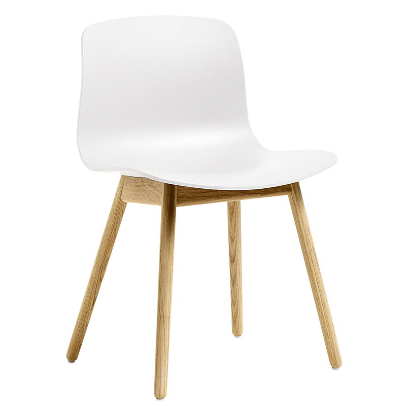 Hay About A Chair AAC12, white - clear lacquered oak