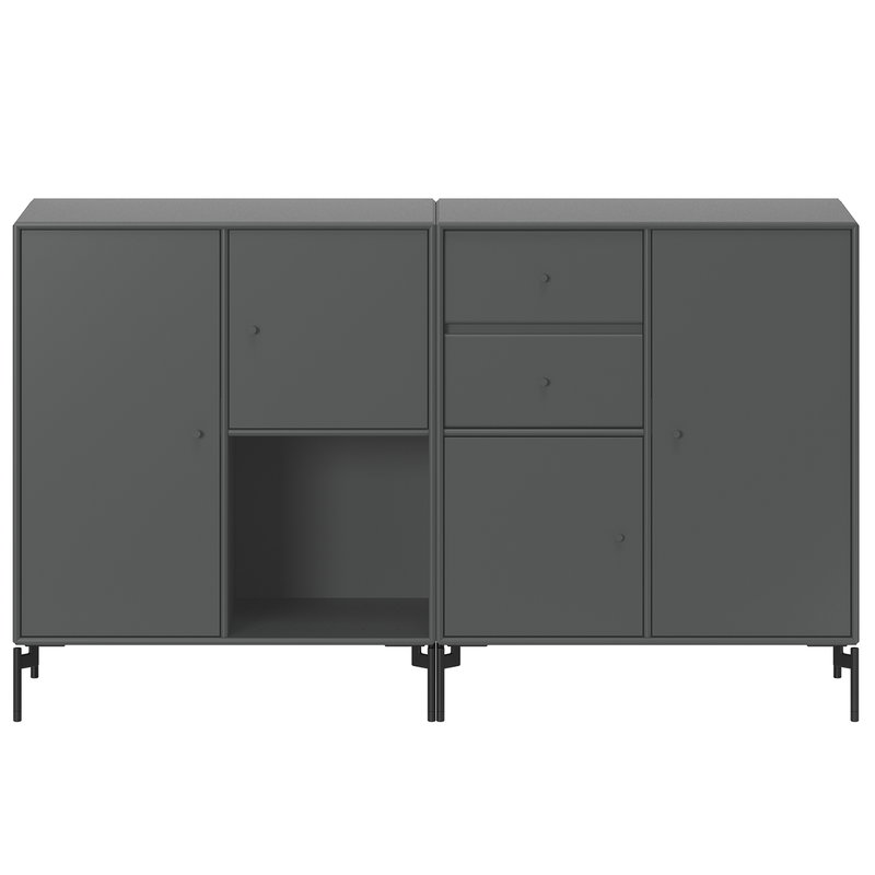 Montana Furniture Couple senkki, mustat jalat - 04 Antracite