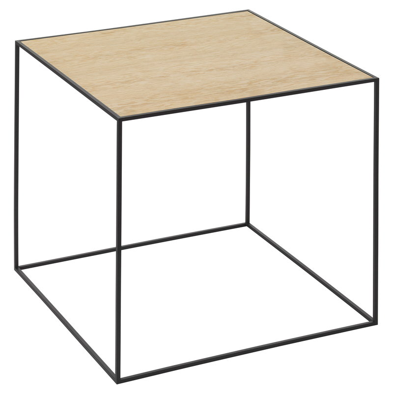 By Lassen Twin 42 table black, oak/brass