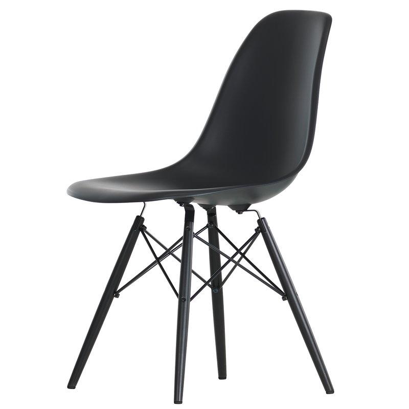 Vitra Eames DSW chair, basic dark - black maple