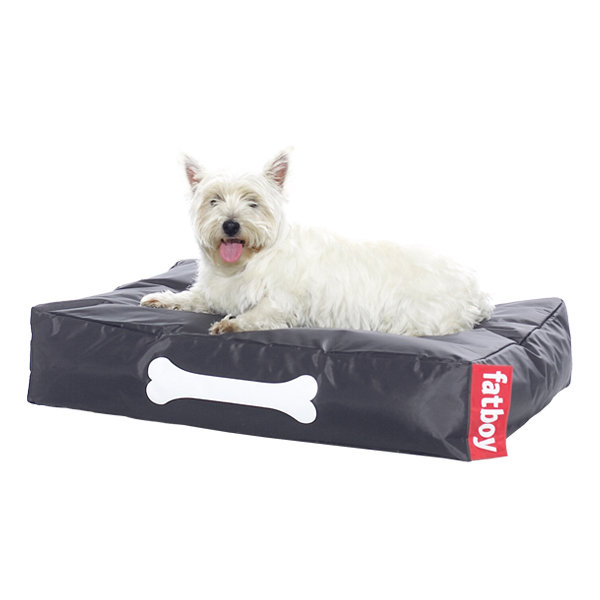Fatboy Doggielounge dog bed, small, dark grey