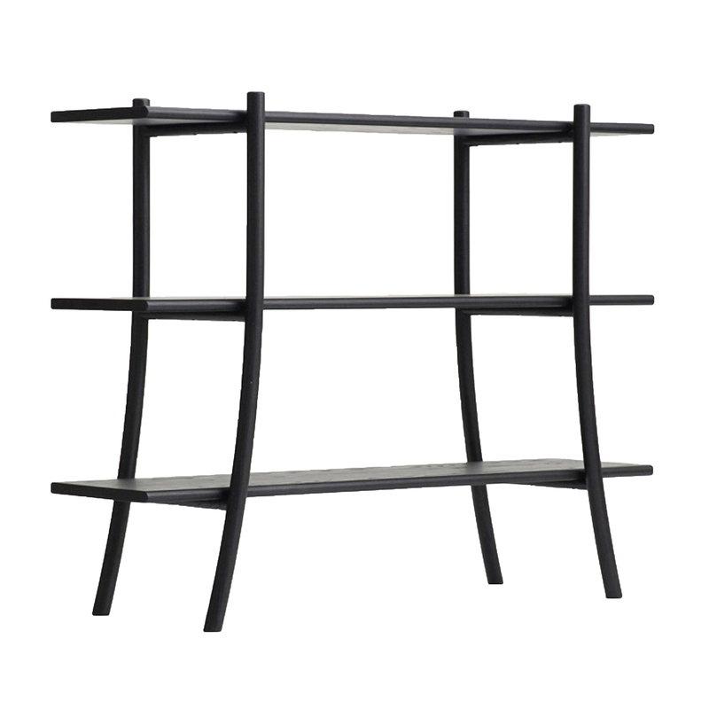 Ariake Skyladder shelf, low, black
