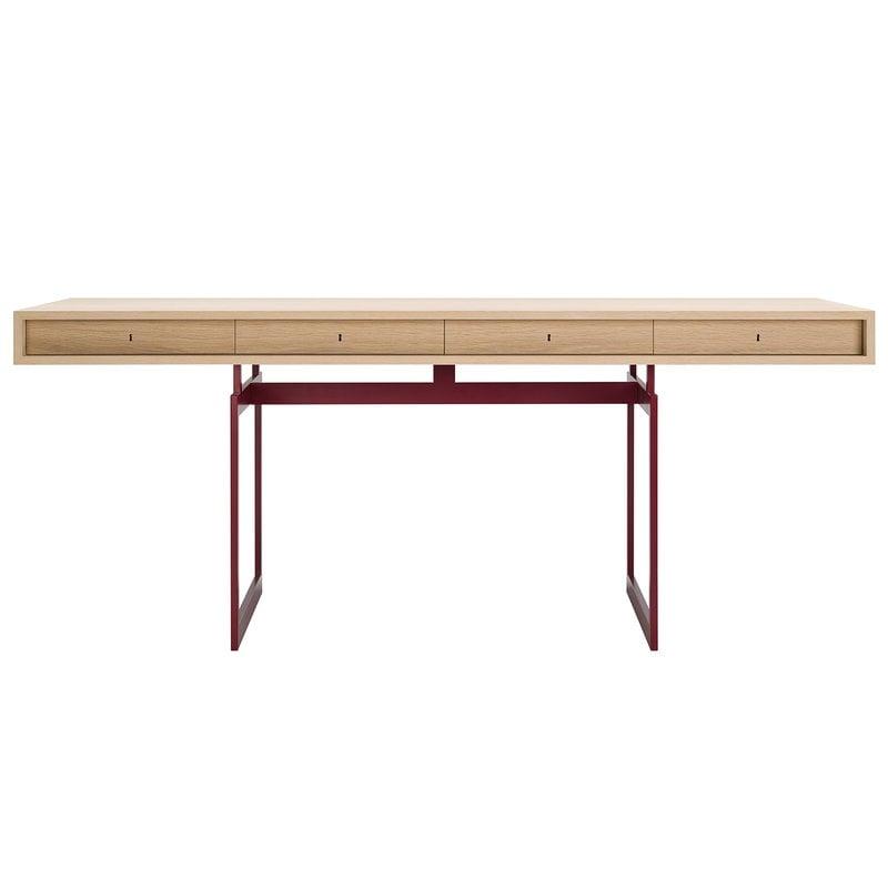 Karakter Office desk, oak - red frame