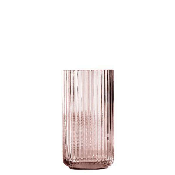 Lyngby Porcelain Lyngby glass vase, 20 cm, burgundy