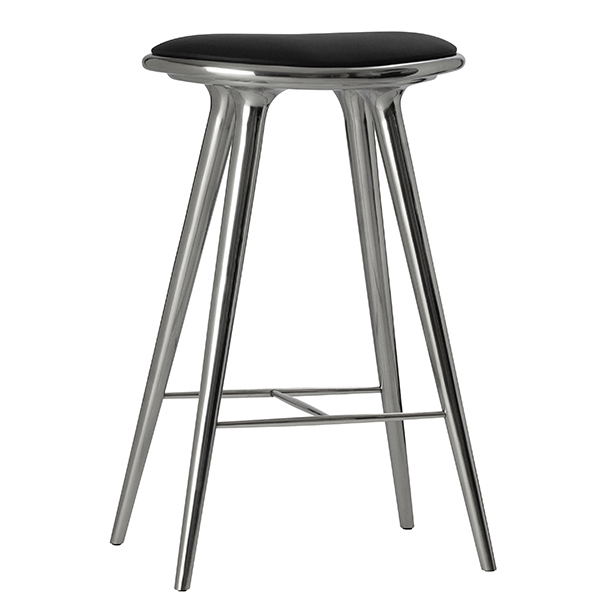 Mater Sgabello High Stool, 74 cm, alluminio
