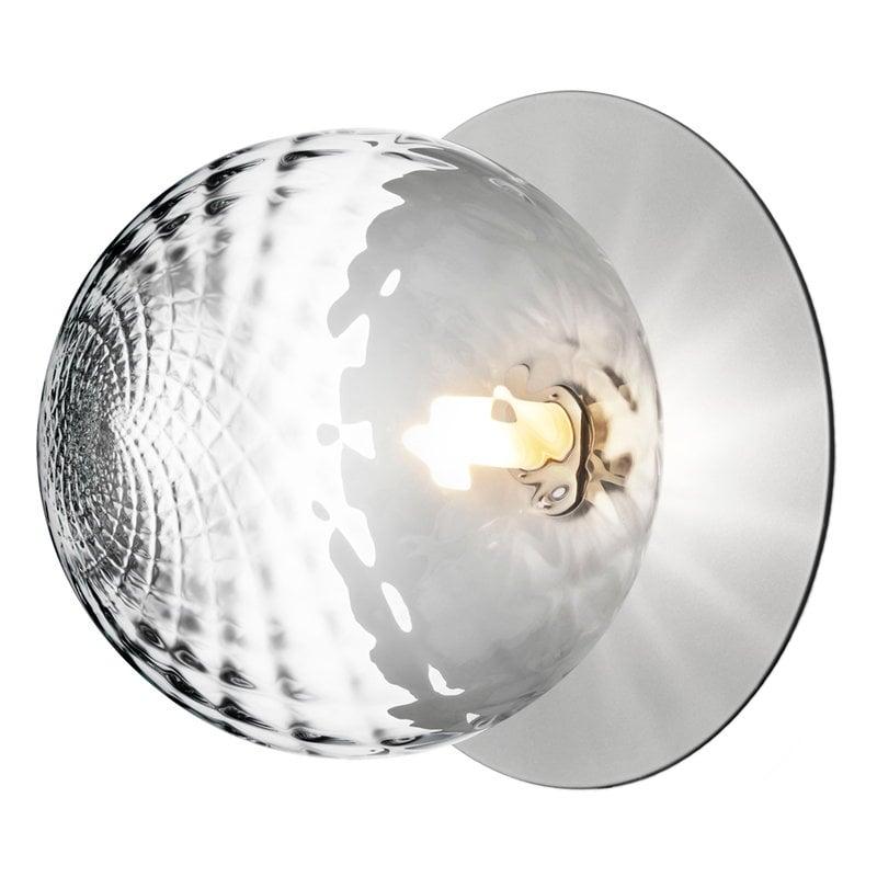 Nuura Lampada da parete/soffitto Liila 1, grande, argento - trasparent