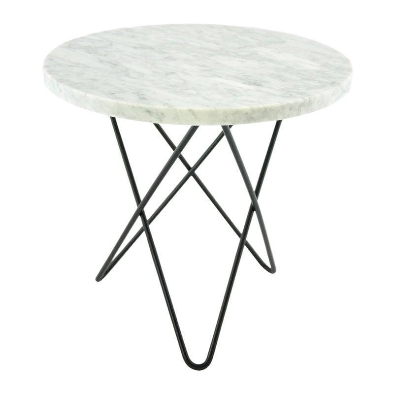 OX Denmarq Mini O table, black - white carrara