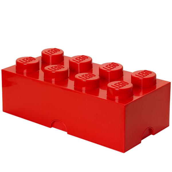 Room Copenhagen Lego säilytyslaatikko 8, punainen