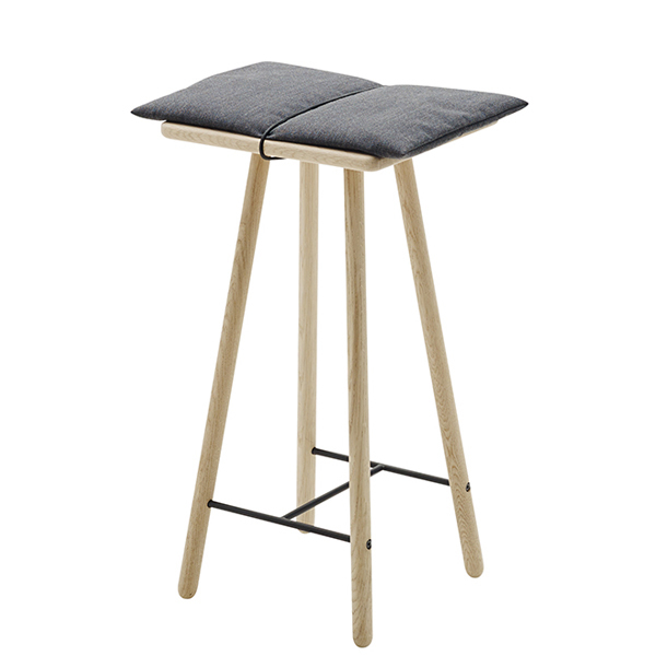 Skagerak Georg bar stool, low, oak