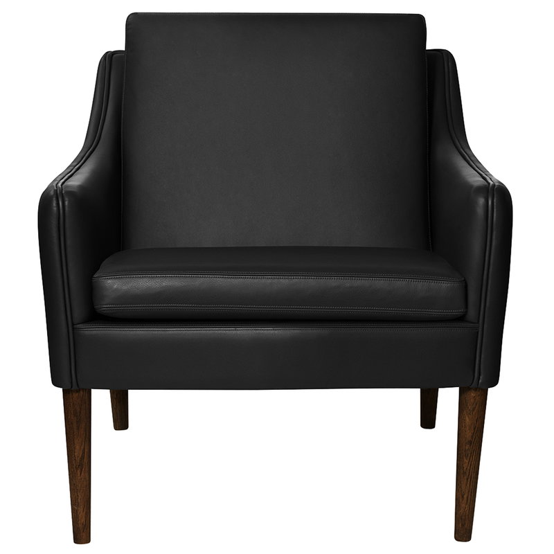 Warm Nordic Mr Olsen lounge chair, walnut - black leather