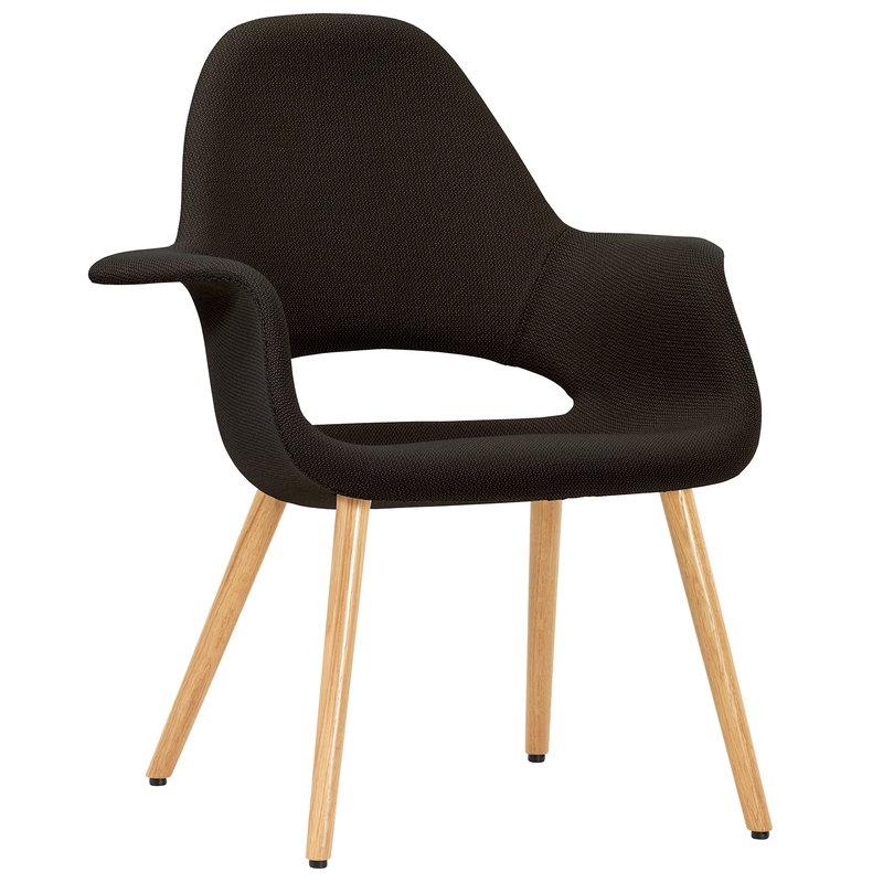 Vitra Organic Chair, tammi - suklaa/musta