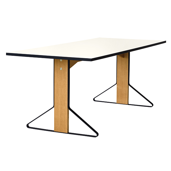 Artek Kaari table REB 001, white laminate - oak