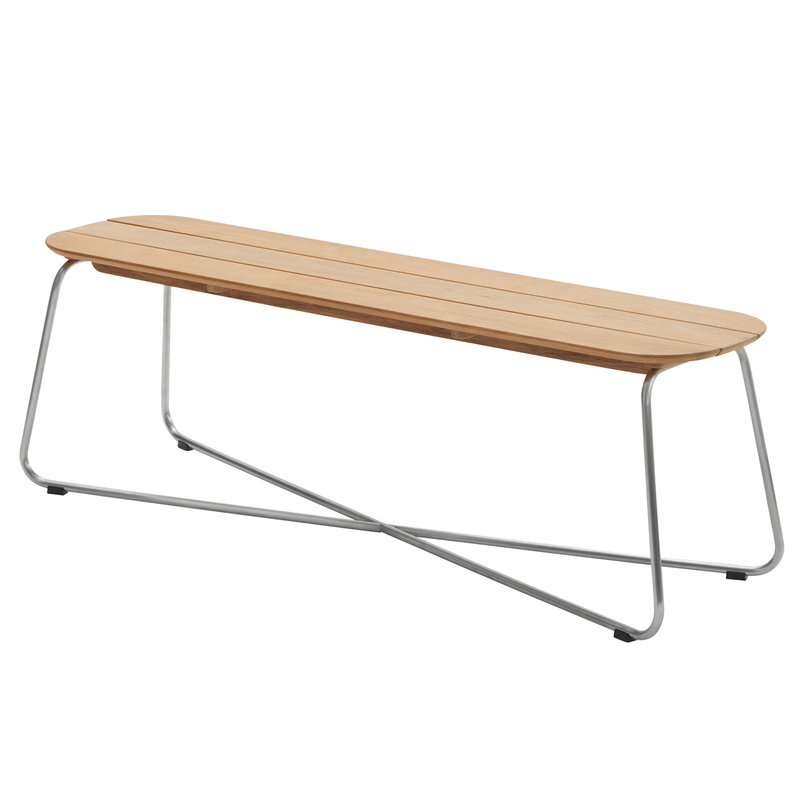Skagerak Lilium Bench Teak Stainless Steel Finnish Design Shop