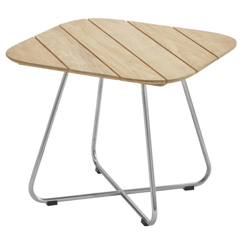 Skagerak Lilium coffee table, teak - stainless steel