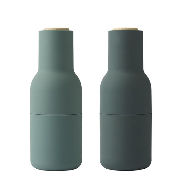 Menu Bottle suola- ja pippurimylly, 2 kpl, dark green - pyökki