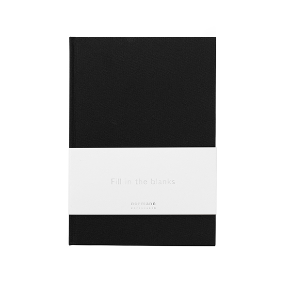Normann Copenhagen Quaderno Daily Fiction, piccolo, nero