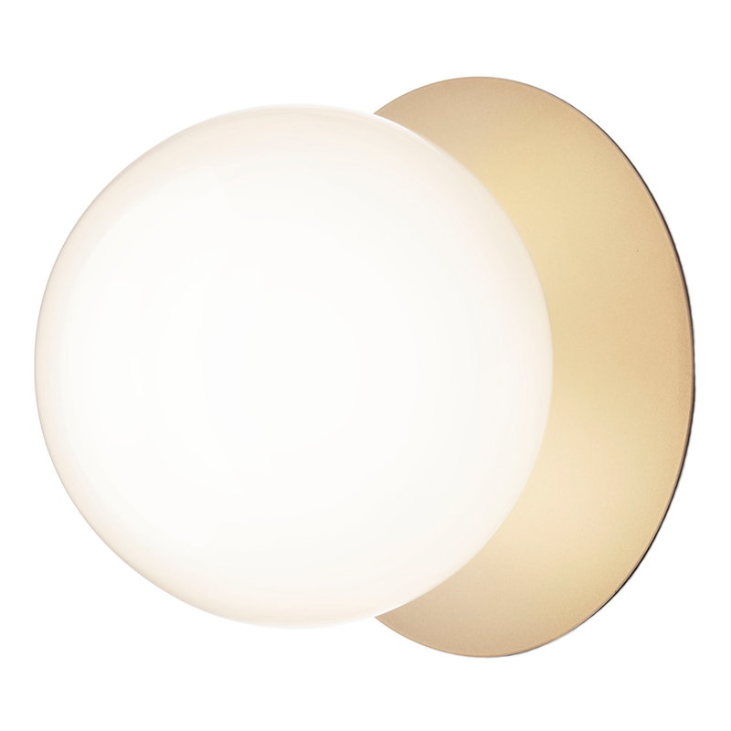 Nuura Liila 1 wall/ceiling lamp, large, gold - opal