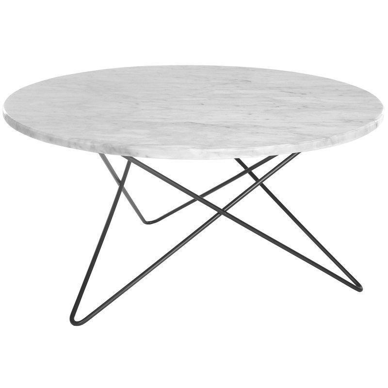 OX Denmarq O table, black - white marble