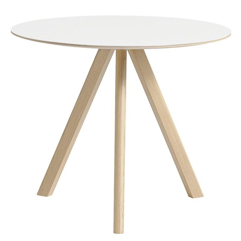 Hay Tavolo rotondo CPH20 90 cm, rovere lacc opaco-lamin bianco