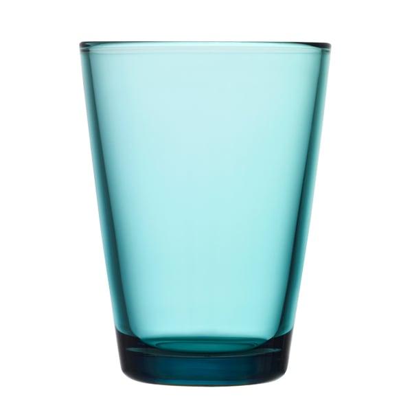 Iittala Bicchiere Kartio 40 cl, blu mare, 2 pz