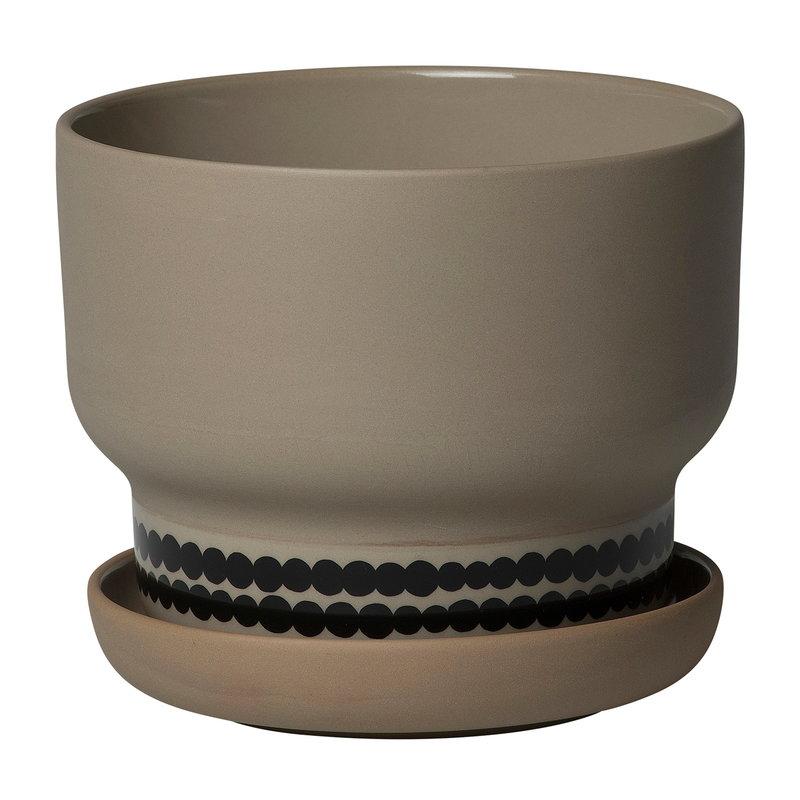 Marimekko Oiva - Räsymatto ruukku 16 cm, terra