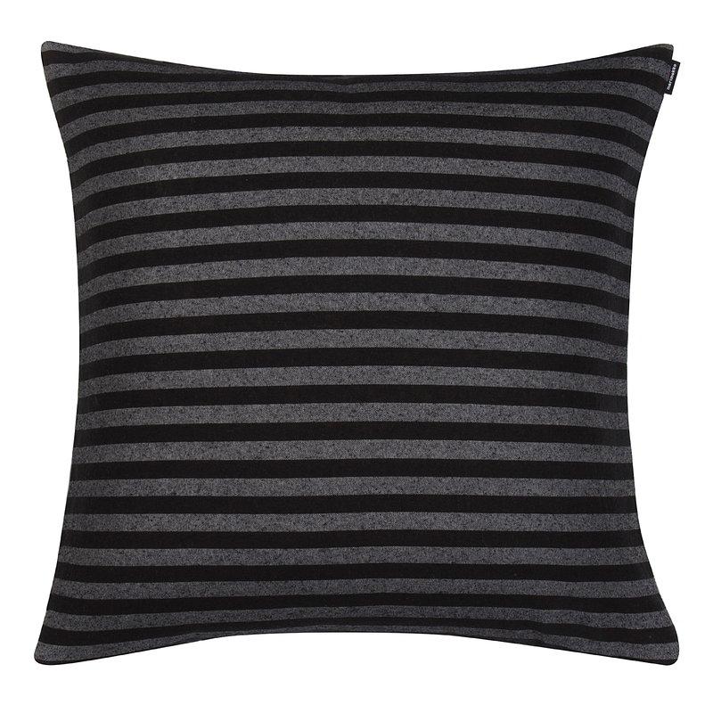 Marimekko Fodera per cuscino Tasaraita, nero - grigio