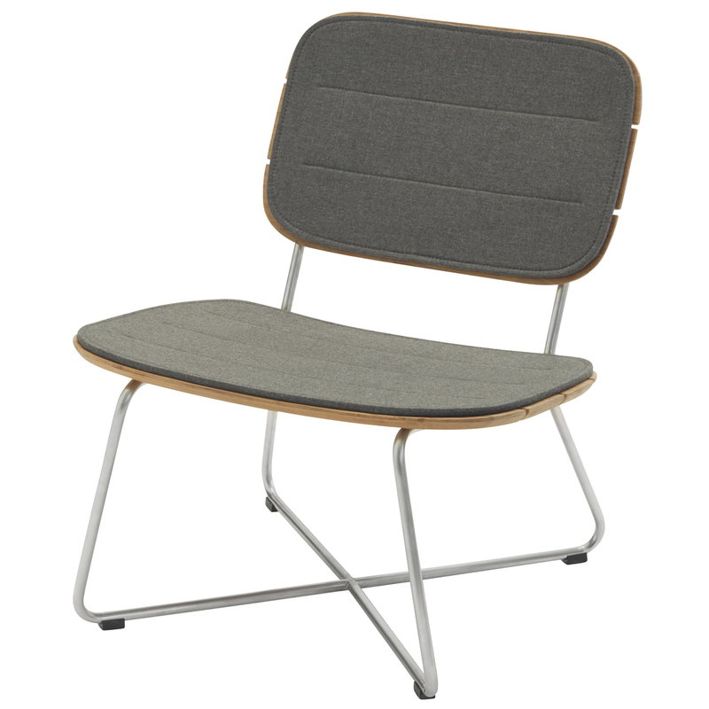 Skagerak Lilium lounge chair cushion, charcoal