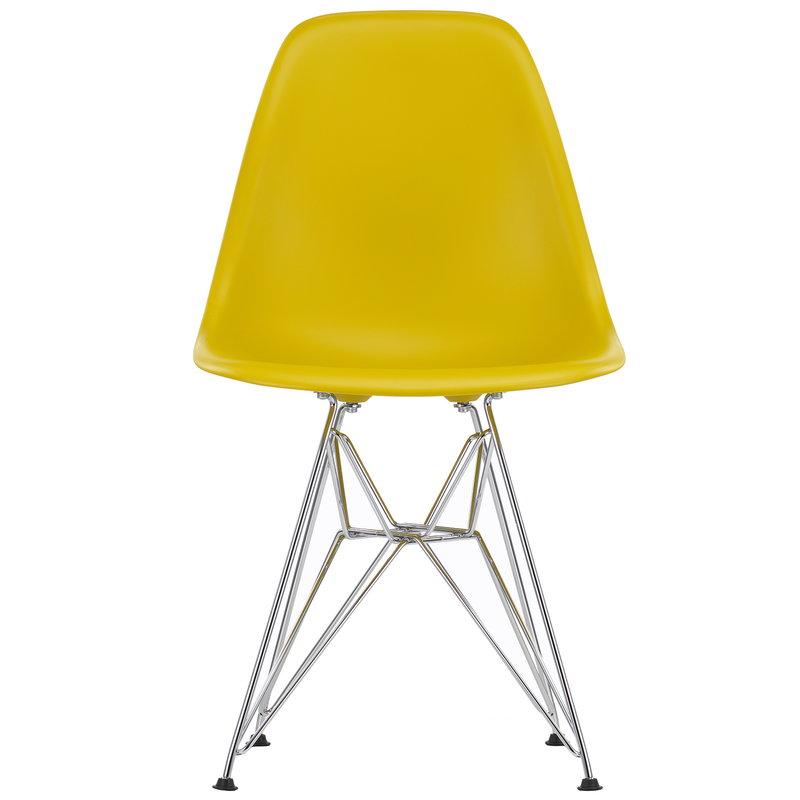 Vitra Eames DSR chair, mustard - chrome