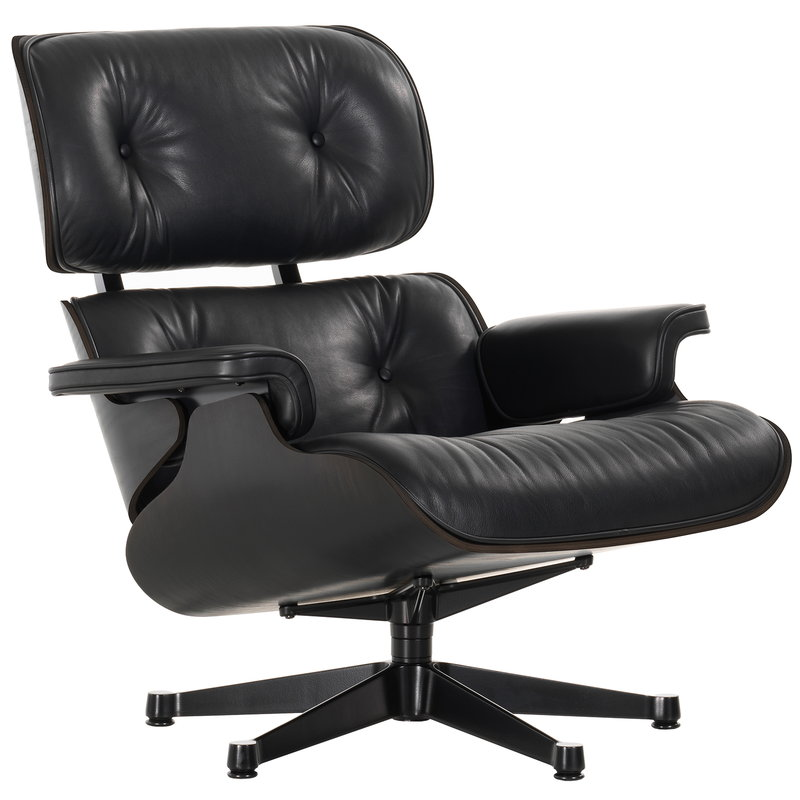 Awesome Vitra Eames Lounge Chair Classic Size Black Ash Black Creativecarmelina Interior Chair Design Creativecarmelinacom