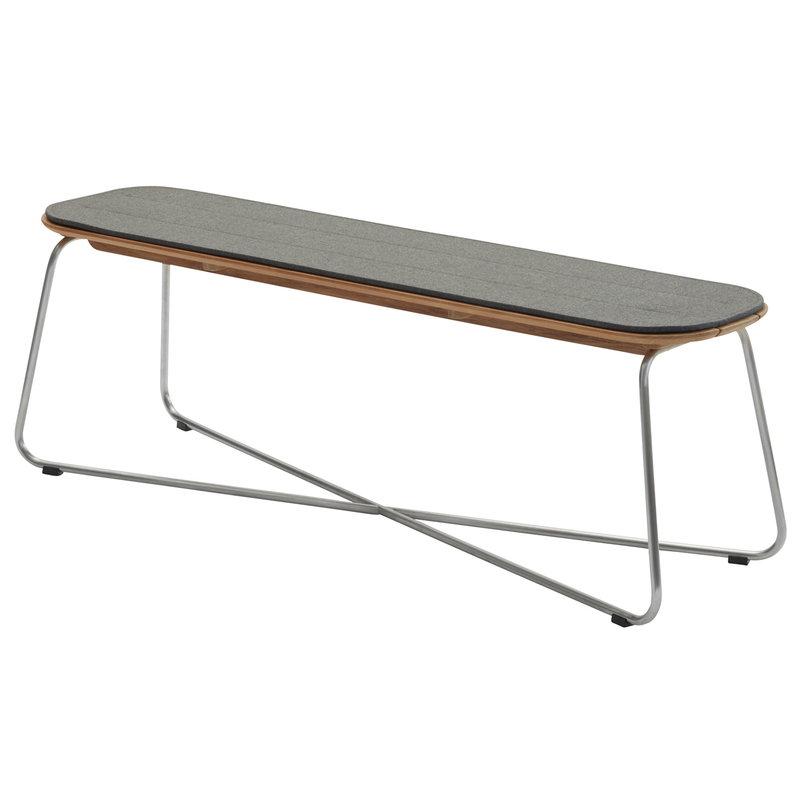 Skagerak Lilium bench cushion, charcoal