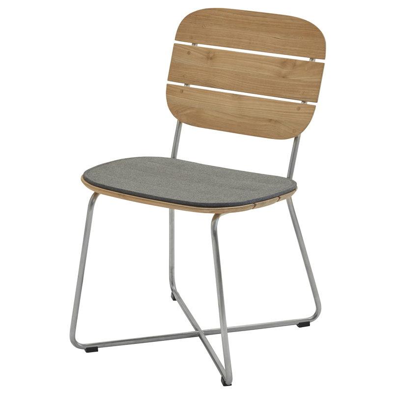Skagerak Lilium chair cushion, charcoal