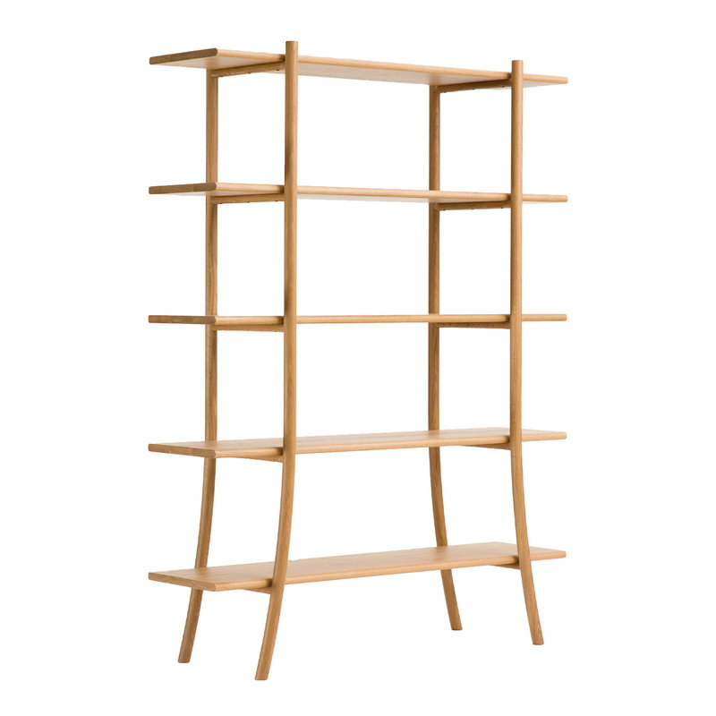 Ariake Skyladder shelf, high, oak