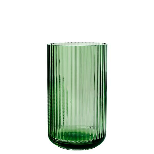 Lyngby Porcelain Vaso Lyngby in vetro, 25 cm, copenhagen green