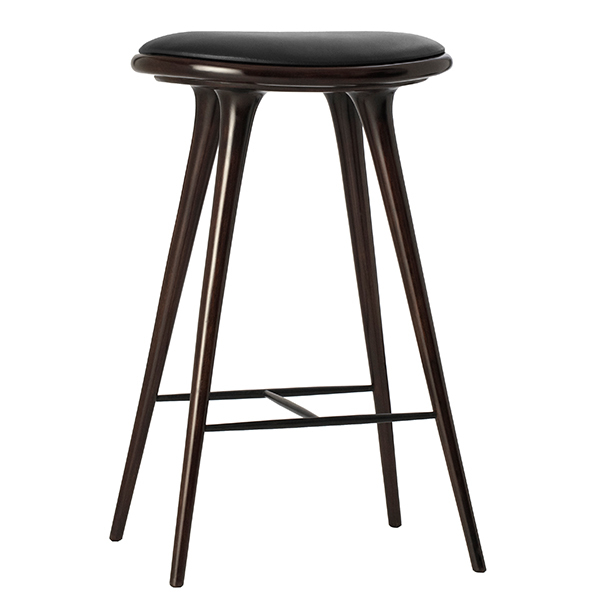 Mater High Stool, 74 cm, dark stained beech