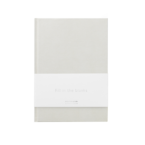 Normann Copenhagen Daily Fiction notebook, small, silver grey