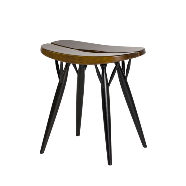 Artek Pirkka stool, brown-black