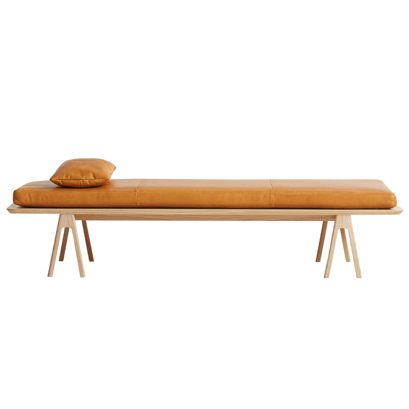 Woud Cuscino In Pelle Level Per Daybed Cognac Finnish Design Shop