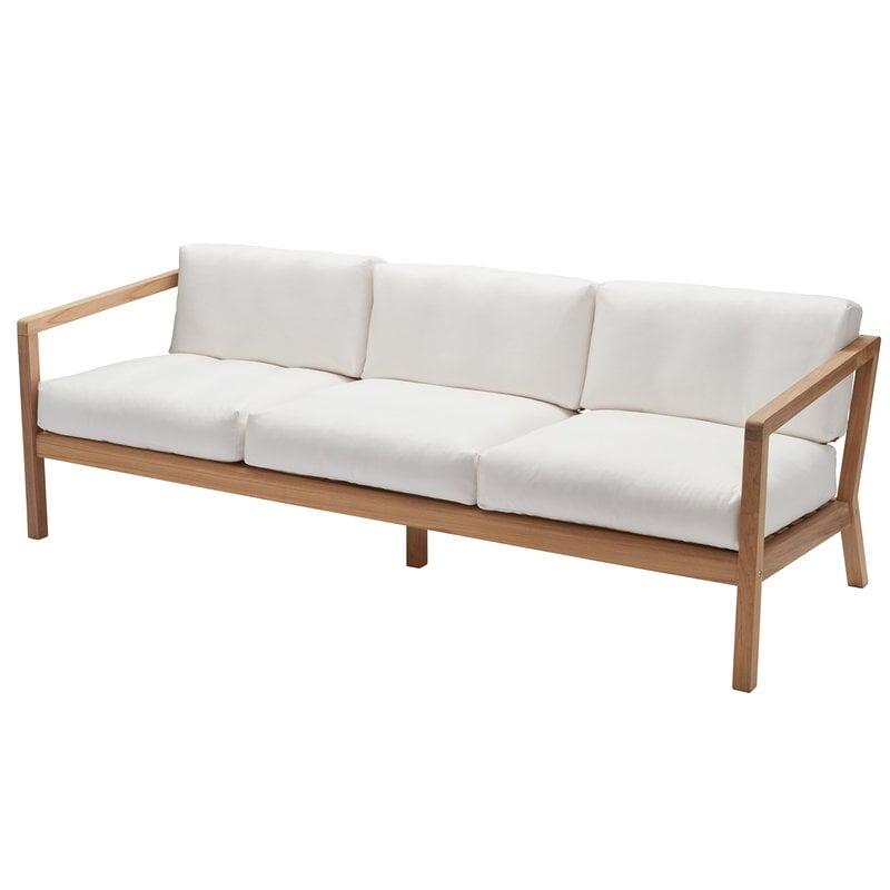 Skagerak Virkelyst 3-seater sofa, teak - white