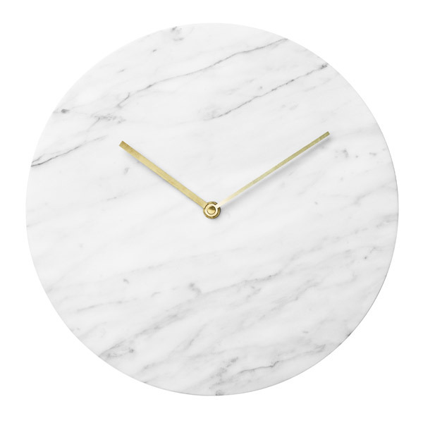 Menu Marble wall clock, white