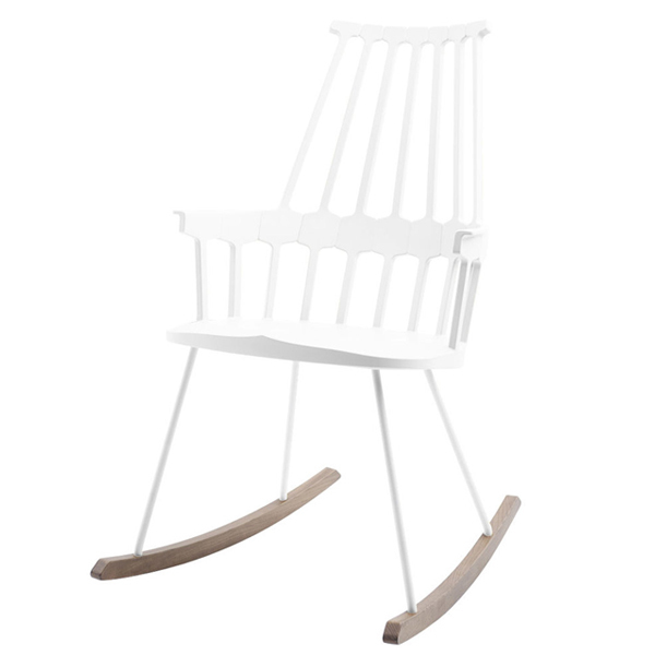 Kartell Comback rocking chair, white