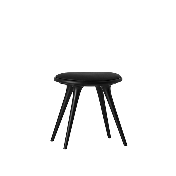 Mater Low Stool, black stained beech