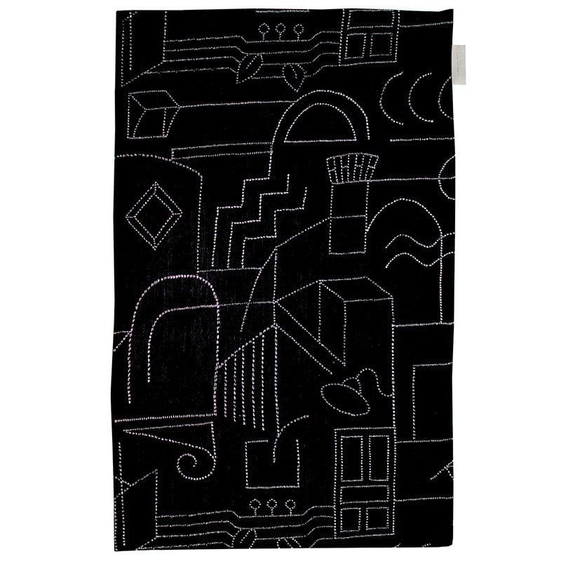 Saana ja Olli Unien talo tea towel/placemat, black