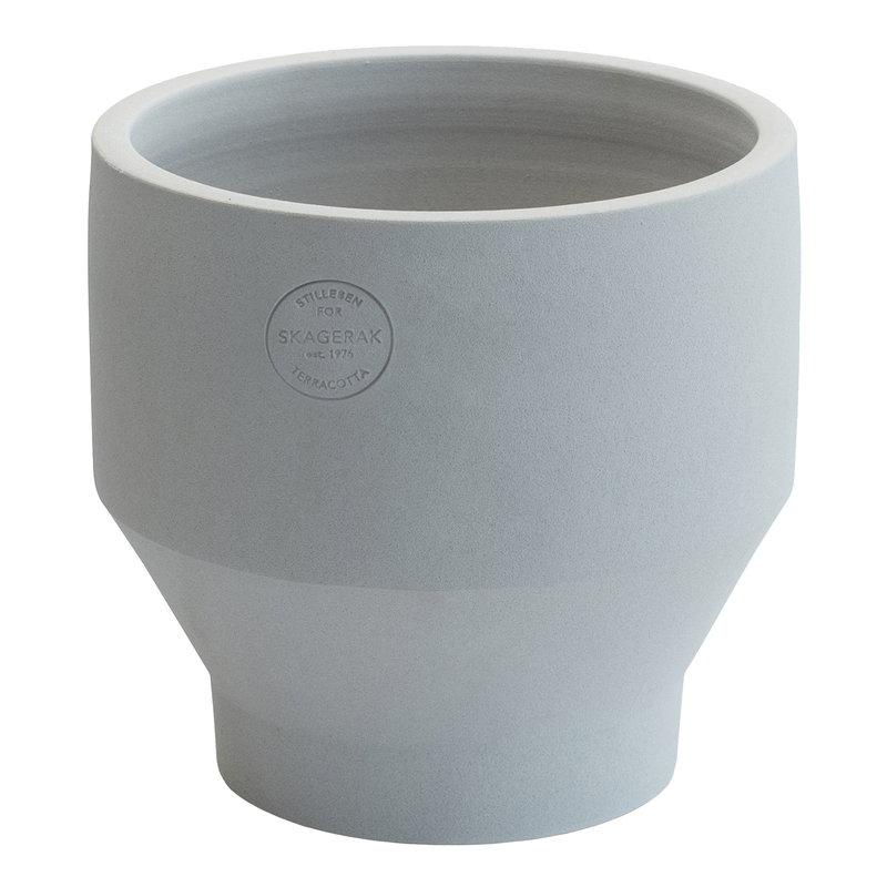 Skagerak Vaso Edge 18 cm, grigio chiaro
