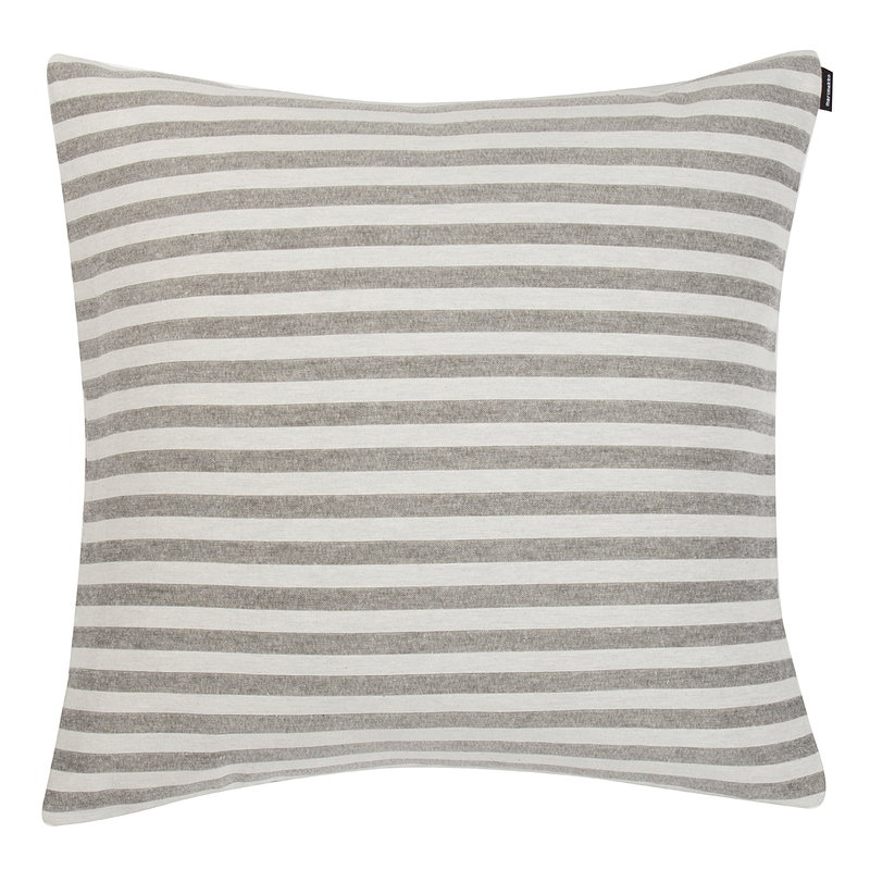 Marimekko Fodera per cuscino Tasaraita, bianco naturale - grigio