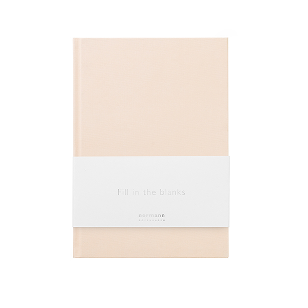 Normann Copenhagen Quaderno Daily Fiction, piccolo, pale pink