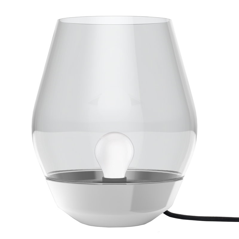 New Works Bowl Table Lamp Steel Light Smoked Glass Finnish