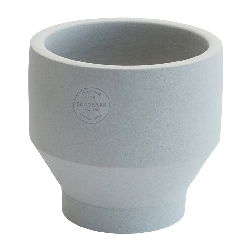 Skagerak Edge pot 15 cm, light grey